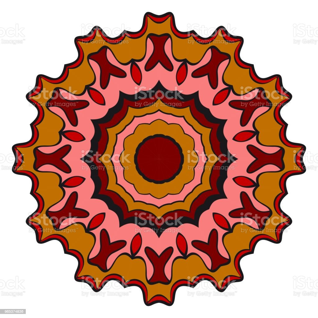 Floral Geometric Pattern with hand-drawing Mandala. Vector illustration. For fabric, textile, bandana, scarg, print. royalty-free floral geometric pattern with handdrawing mandala vector illustration for fabric textile bandana scarg print stock illustration - download image now