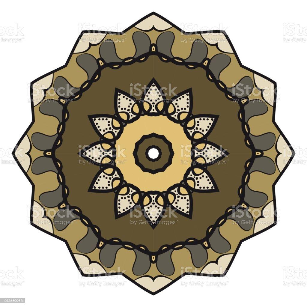 Floral Geometric Pattern with hand-drawing Mandala. Vector illustration. For fabric, textile, bandana, scarg, print. floral geometric pattern with handdrawing mandala vector illustration for fabric textile bandana scarg print - stockowe grafiki wektorowe i więcej obrazów bazgroły - rysunek royalty-free