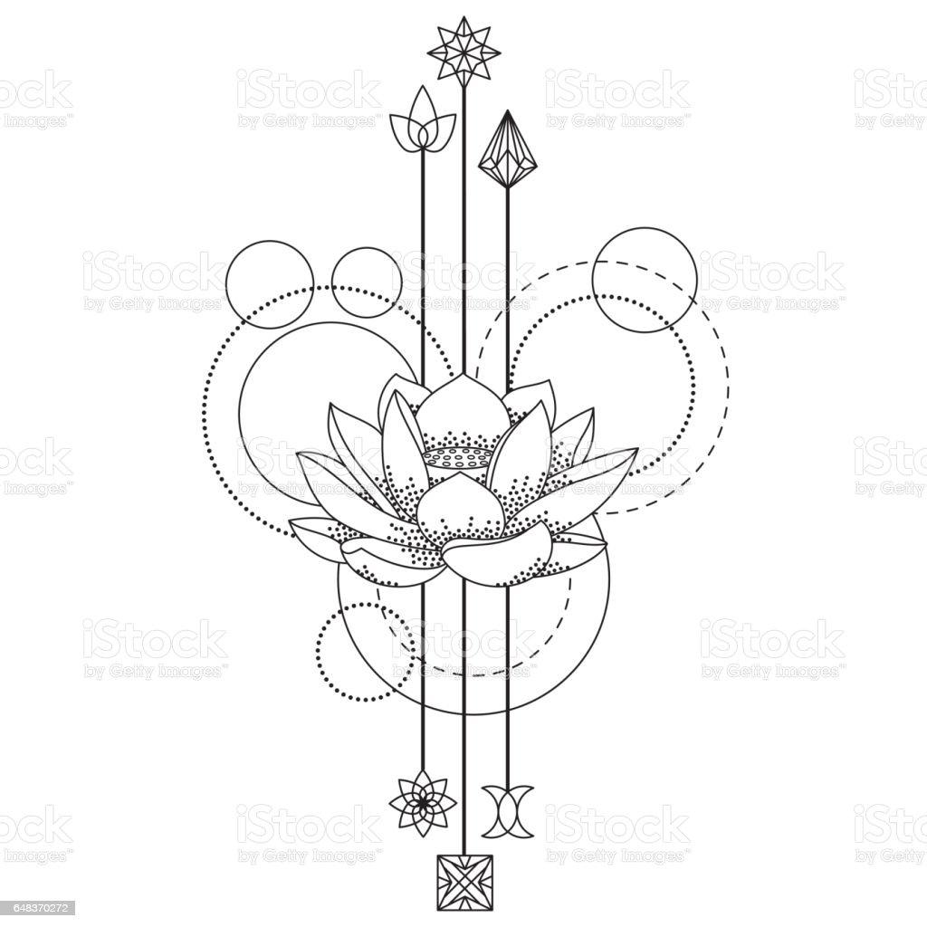 Floral Geometric Tattoo Immagini Vettoriali Stock E Altre Immagini