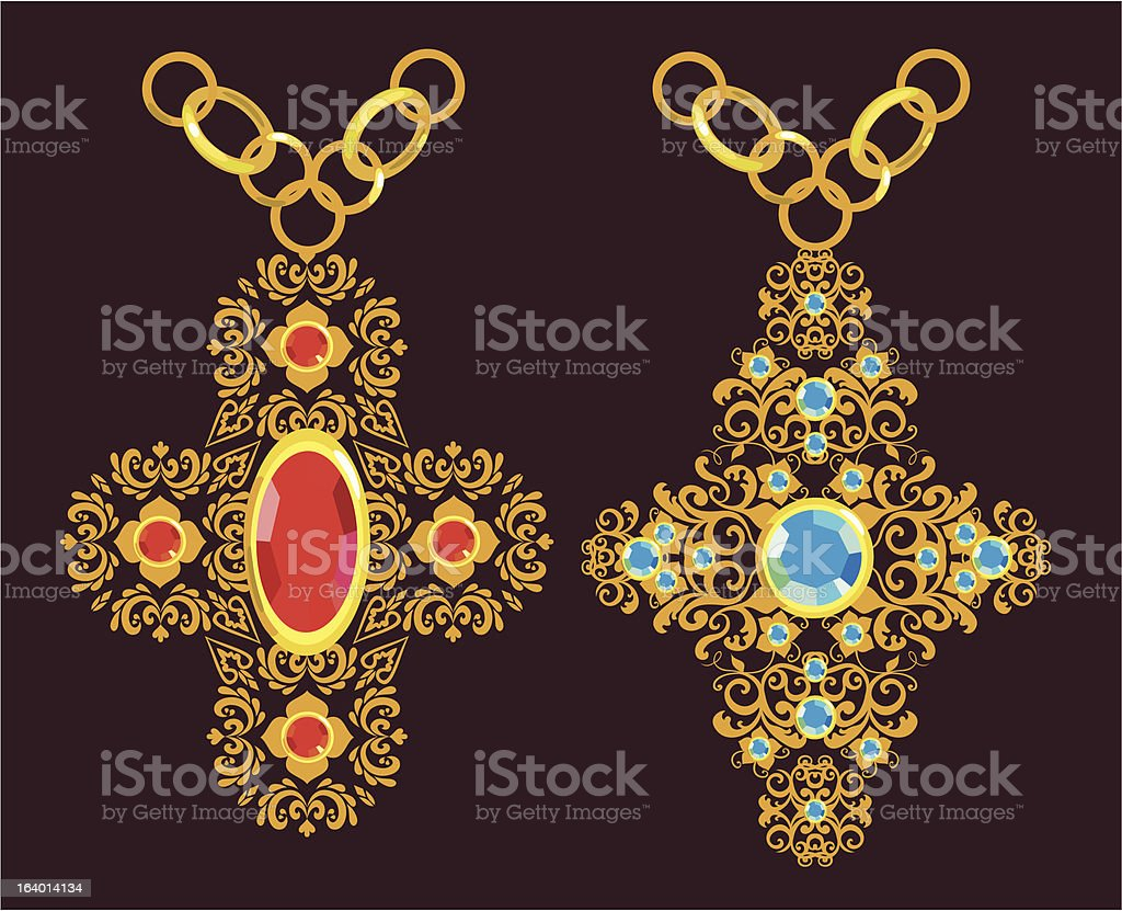 floral gold cross royalty-free floral gold cross stock vector art & more images of blue