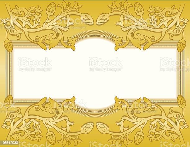 Moldura De Ouro Floral - Arte vetorial de stock e mais imagens de Arte e Artesanato - Arte visual