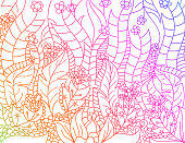 Floral gradients colors artistically scene