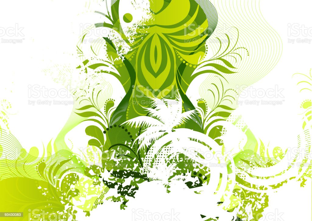 Floral Green Elements royalty-free stock vector art