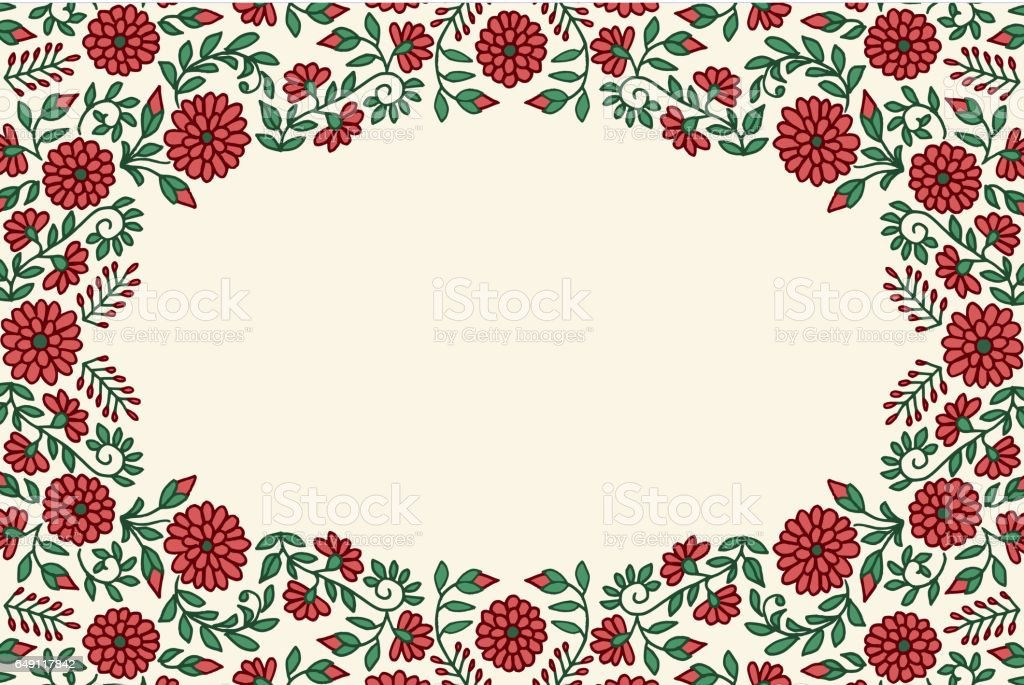 Floral greeting card frame royalty-free floral greeting card frame stock vector art & more images of art