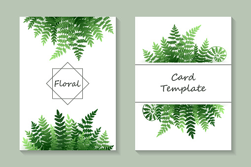 Floral greeting card template or wedding invitation design.