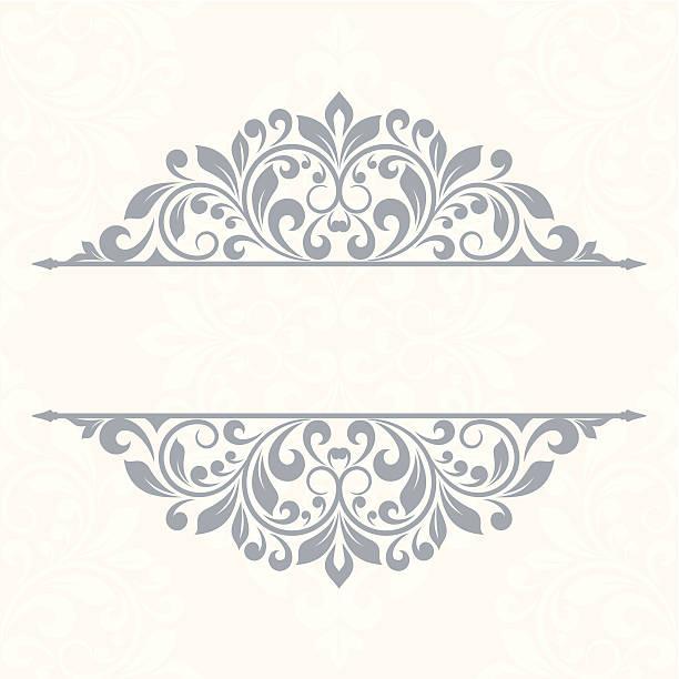 ilustrações, clipart, desenhos animados e ícones de floral cartão de saudação - bordas florais