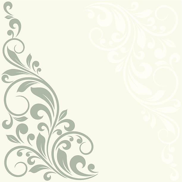 поздравительная открытка с цветочным рисунком. - виньетка stock illustrations