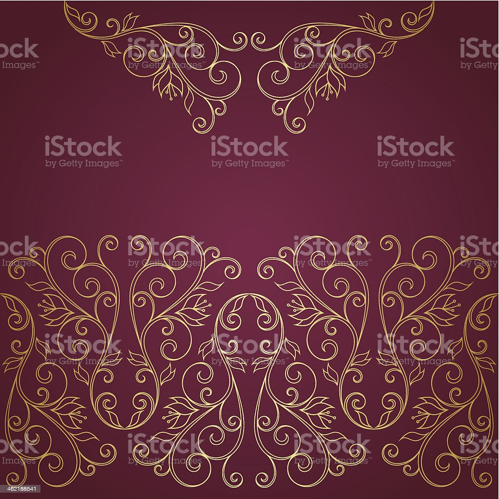 Floral greeting card royalty-free stock vector art