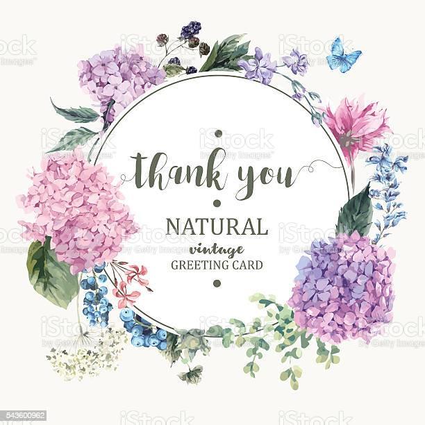 Floral greeting card with blooming hydrangea and garden flowers vector id543600962?b=1&k=6&m=543600962&s=612x612&h=n7vxxdn8pa6txhqlmxluhbayrbqcvanbppzgezmjtae=