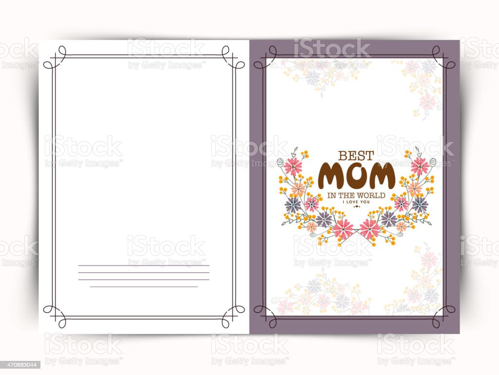 Floral Greeting Or Invitation Card For Happy Mothers Day stock – Mothers Day Invitation Cards