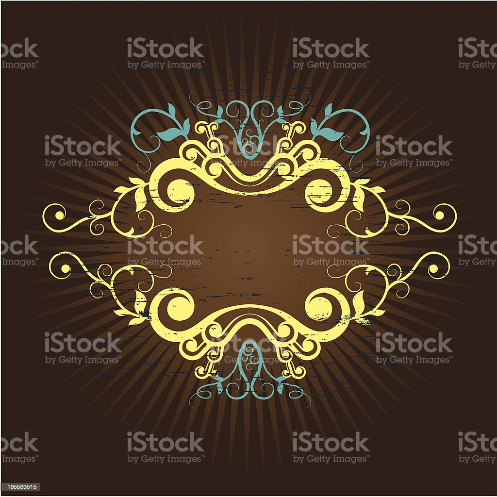 floral grunge frame royalty-free floral grunge frame stock vector art & more images of abstract