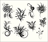 Floral Pattern Design for all sort of usage, you can fill color on every leaf, they are all seprated shapes.