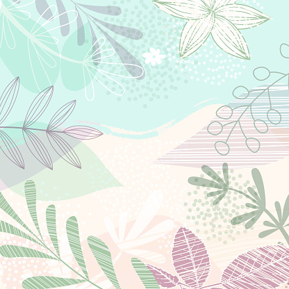 Floral Handrawn Background