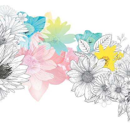 Flower stock illustrations