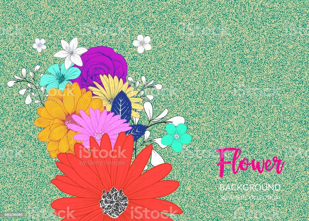 Floral Handrawn Background vector art illustration