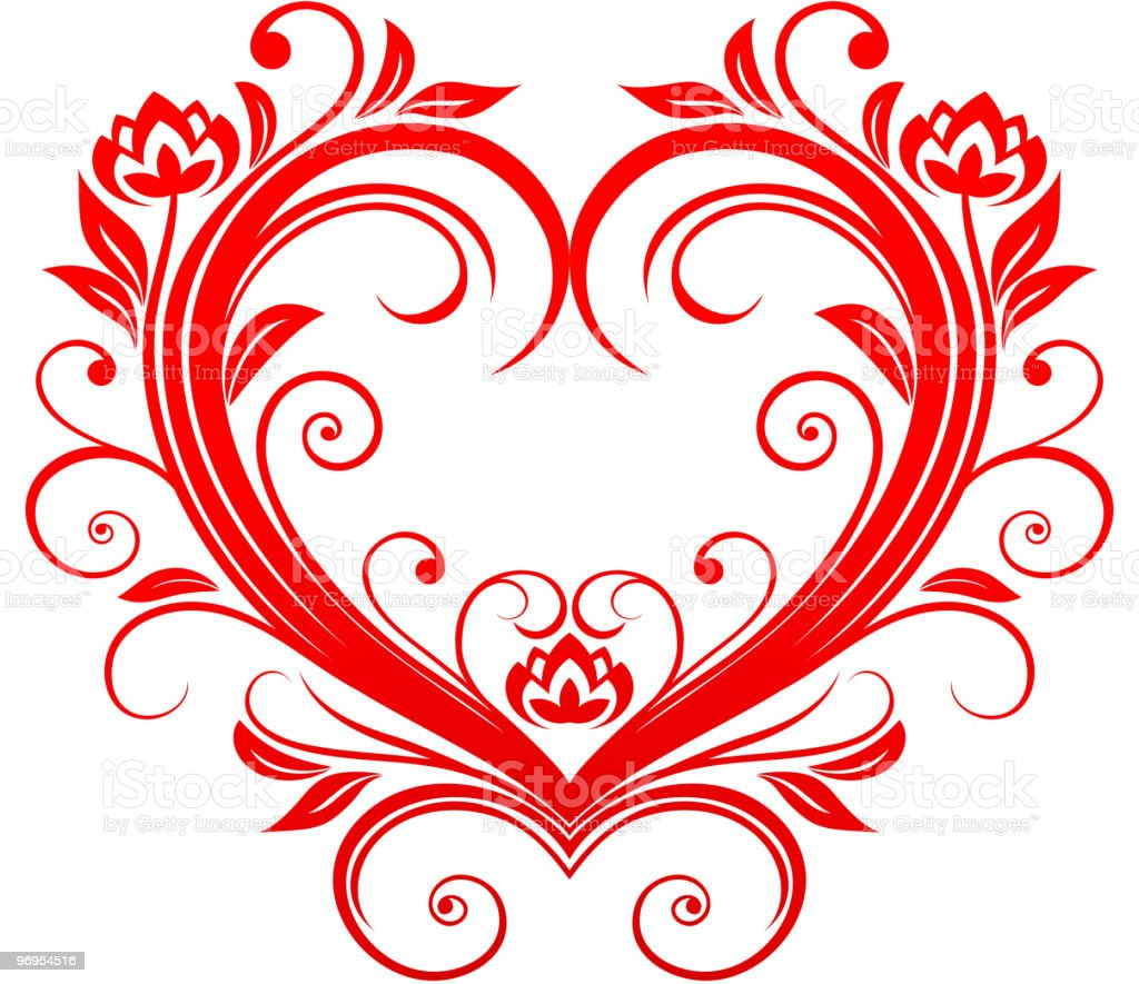 Floral heart royalty-free floral heart stock vector art & more images of color image