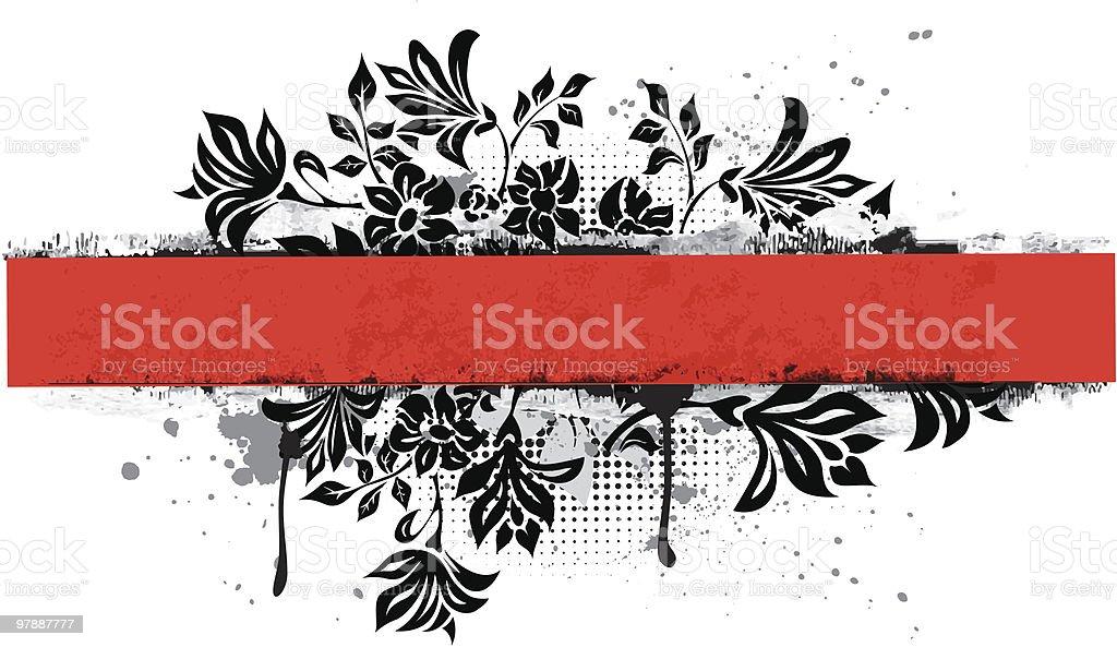 Floral horizontal banner royalty-free stock vector art