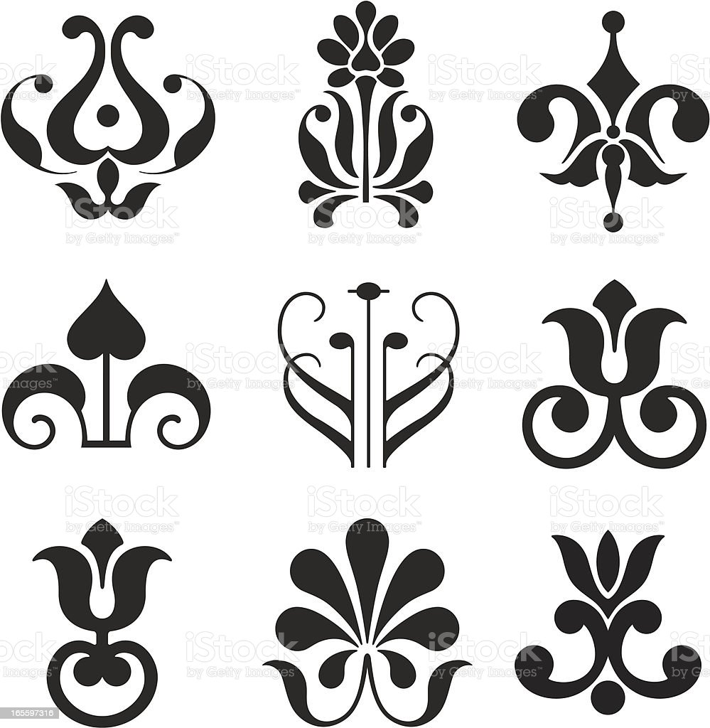 Floral Icons royalty-free floral icons stock vector art & more images of bud