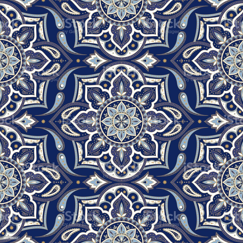 Floral indian paisley pattern vector seamless. Vintage flower ethnic ornament for indonesia batik sarong fabric. Oriental folk design for bedroom textile, yoga wallpaper, turkish luxury wedding. royalty-free floral indian paisley pattern vector seamless vintage flower ethnic ornament for indonesia batik sarong fabric oriental folk design for bedroom textile yoga wallpaper turkish luxury wedding stock vector art & more images of ancient