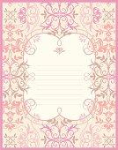 A invitation card with floral pattern design.