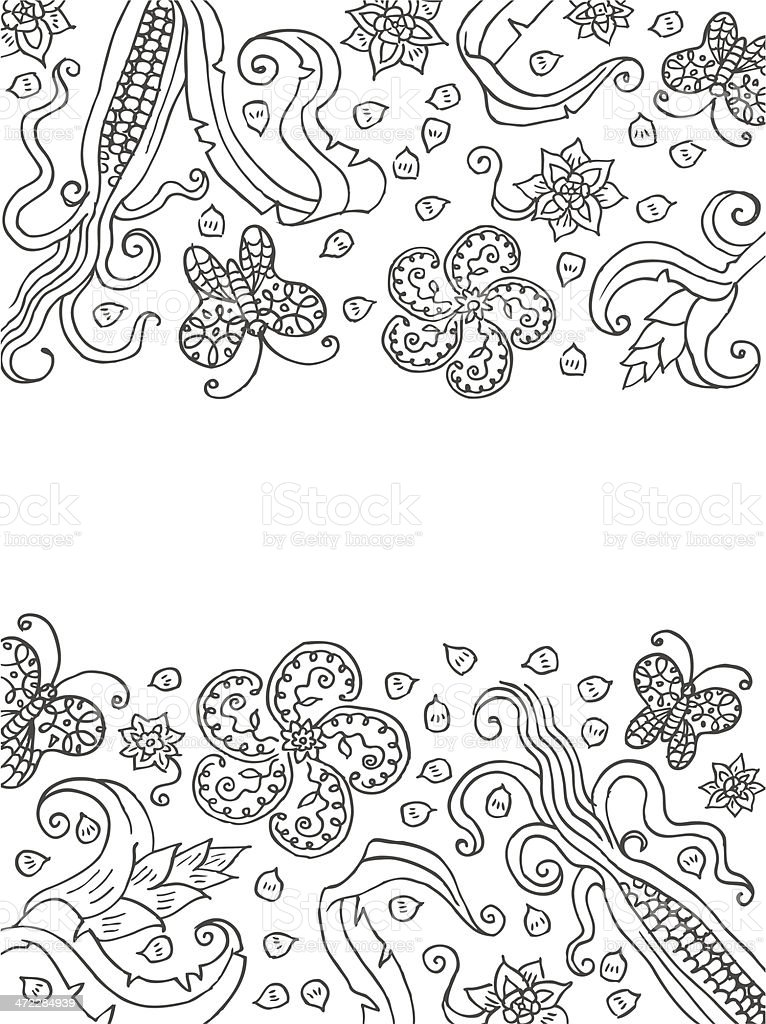Floral Korn & Flowers Background royalty-free stock vector art