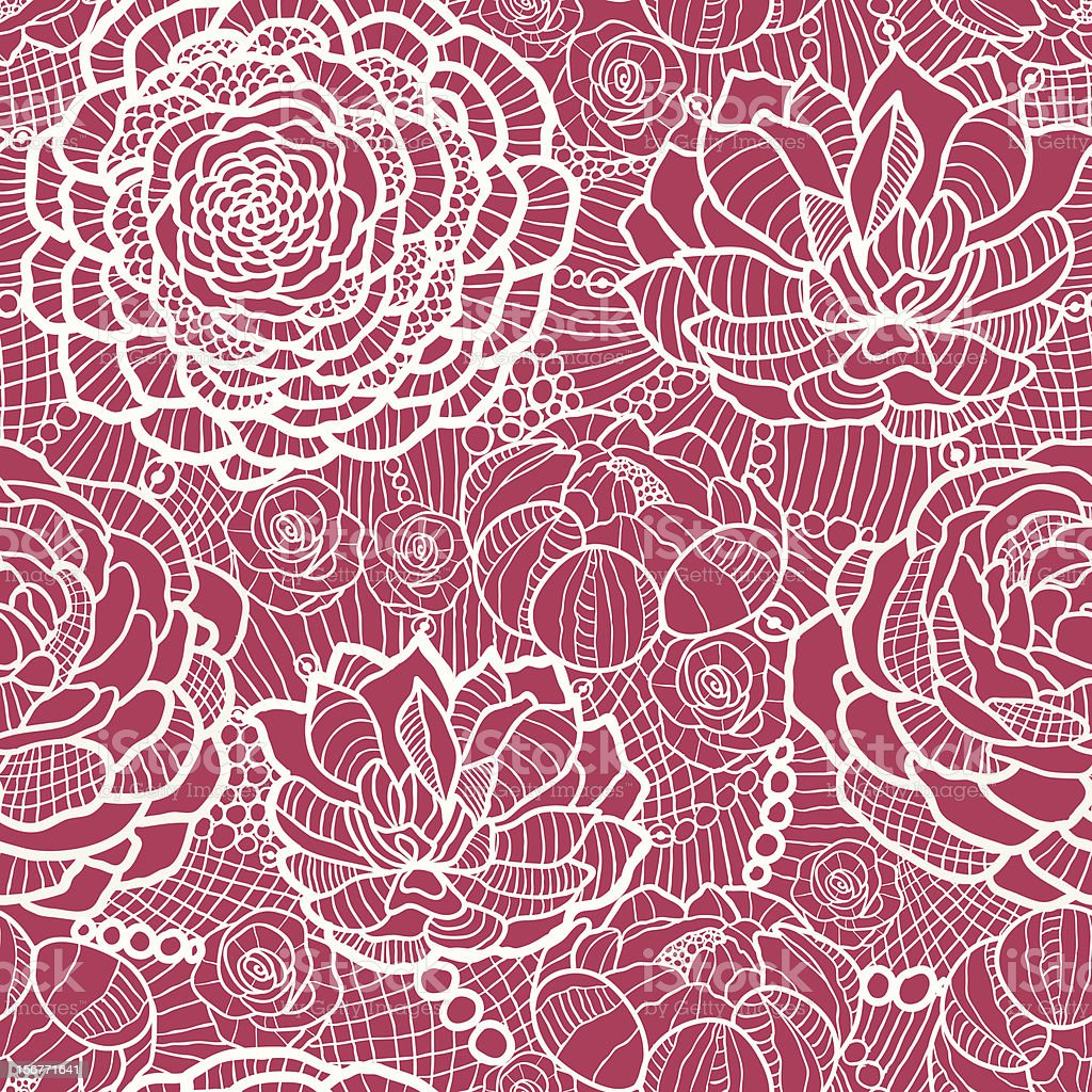 Floral Lace Seamless Pattern Background royalty-free stock vector art