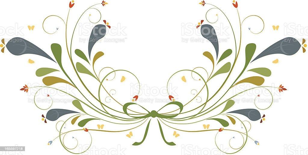 Flores y hojas de trazos, espirales de diseño ilustración de flores y hojas de trazos espirales de diseño y más banco de imágenes de amarillo - color libre de derechos