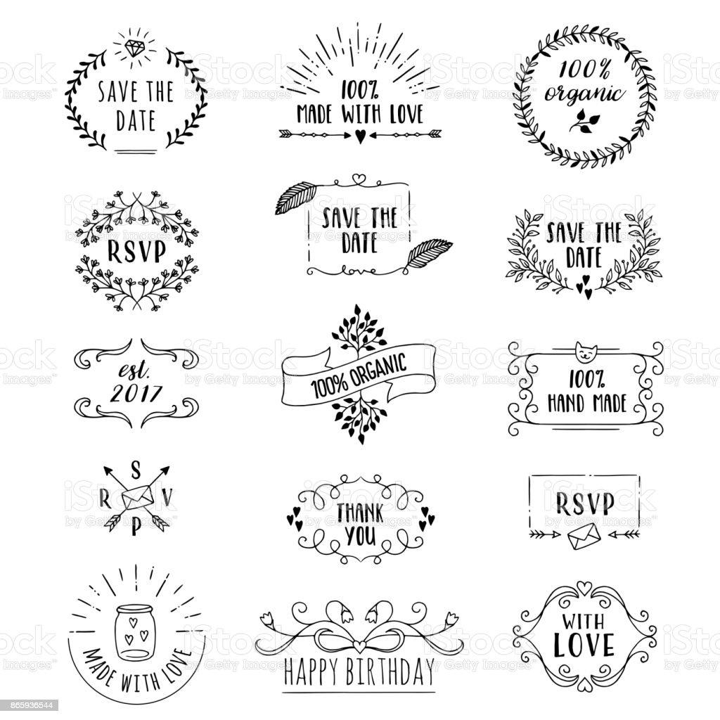 Floral logo templates vector art illustration