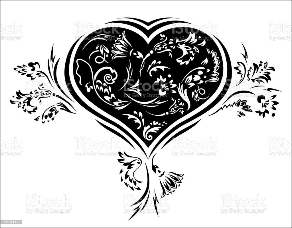 플로럴 사랑입니다. 심장 royalty-free 플로럴 사랑입니다 심장 0명에 대한 스톡 벡터 아트 및 기타 이미지