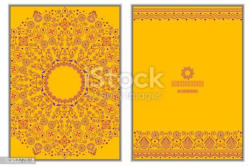 Cartões de mandala floral-Âmbar