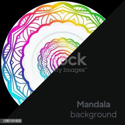 istock Floral mandala design elements. Vector illustration 1292101520