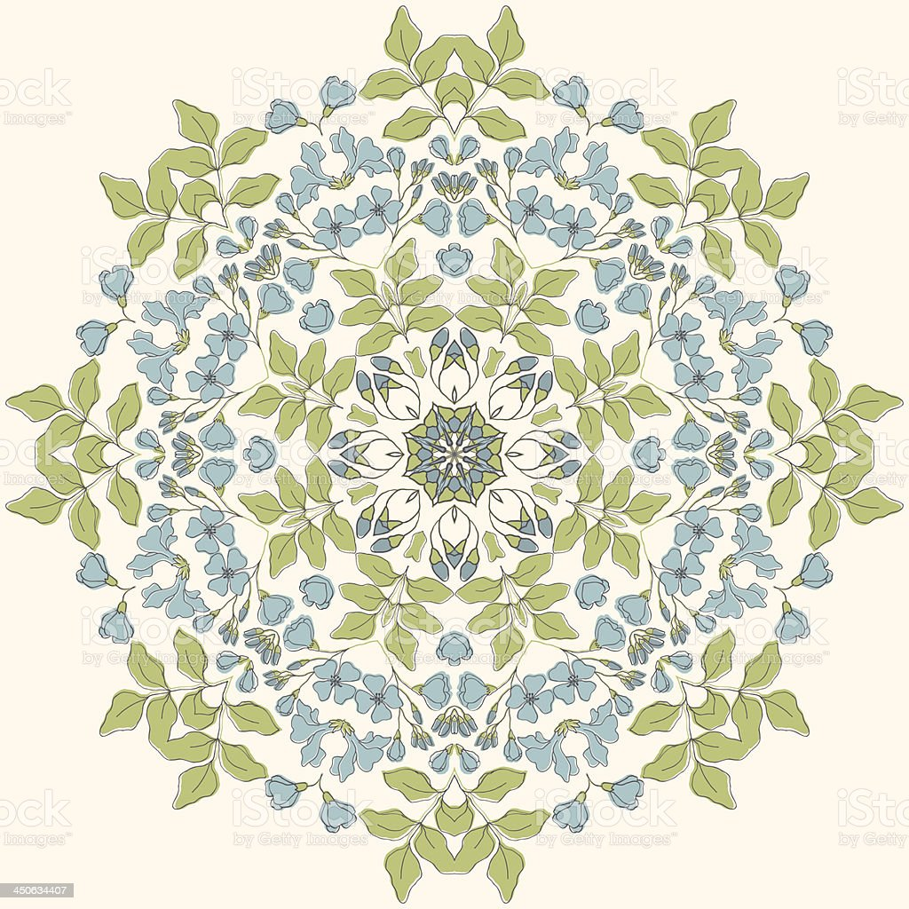 Floral mandala ornament royalty-free stock vector art