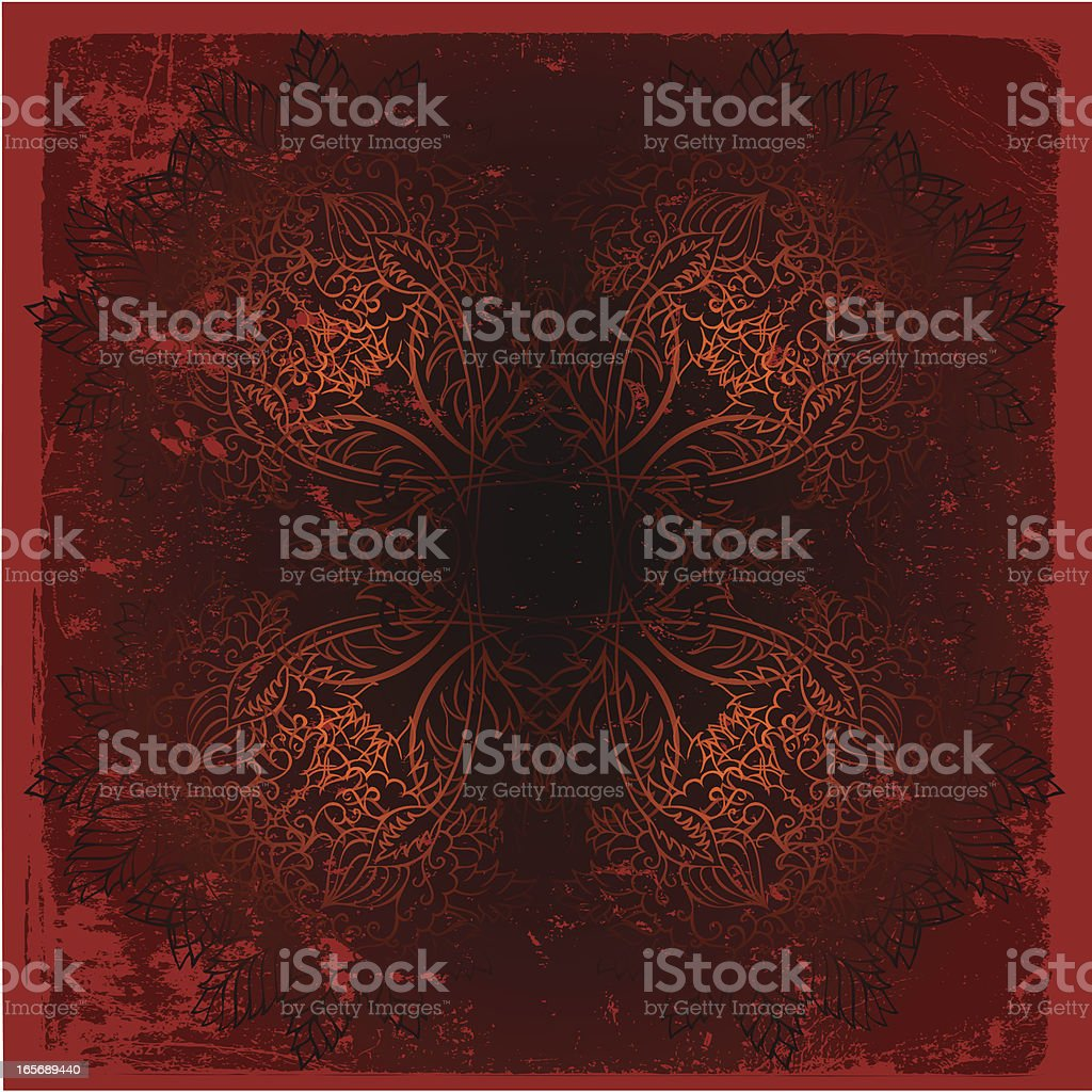 floral mandala royalty-free stock vector art