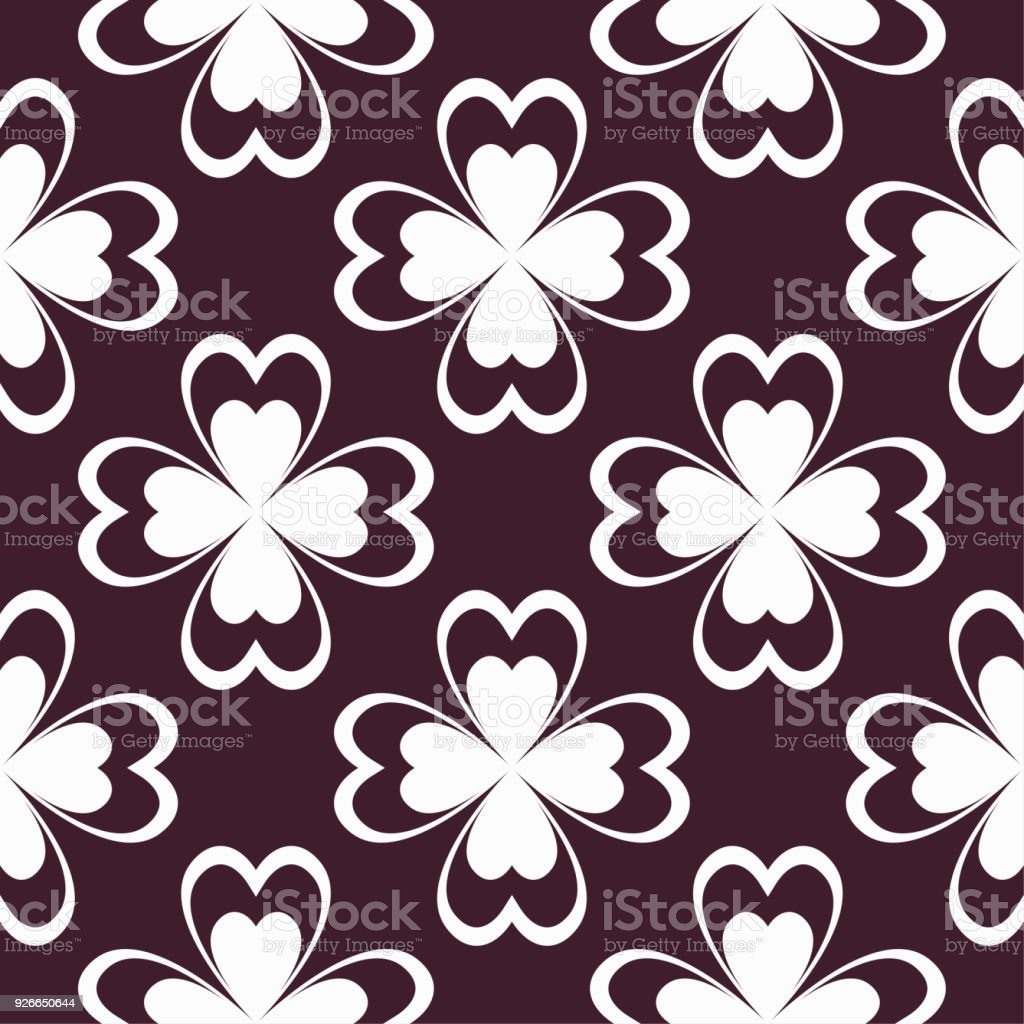 Floral Maroon Seamless Pattern Background With Fower Elements For