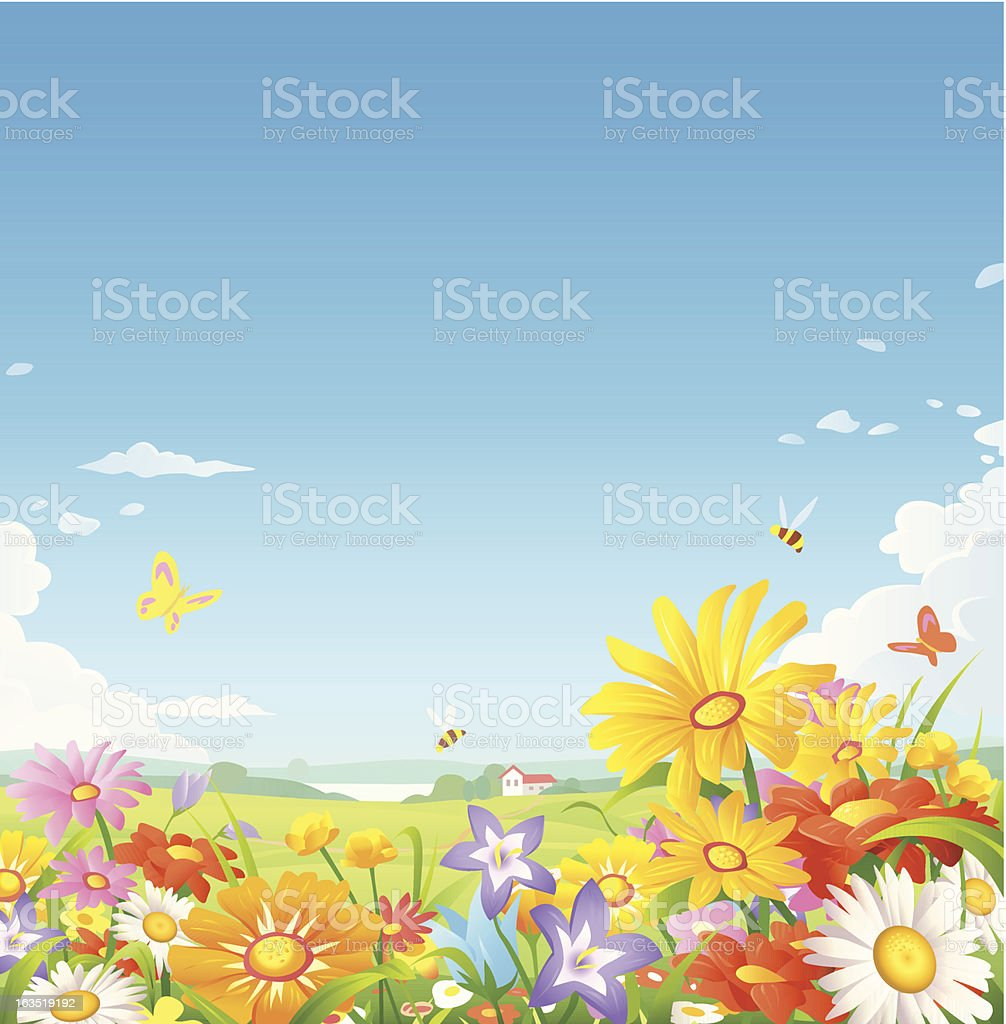 Floral Meadow royalty-free stock vector art