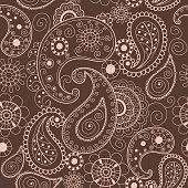 Floral mehendi pattern ornament vector illustration hand drawn henna pattern india tribal paisley background