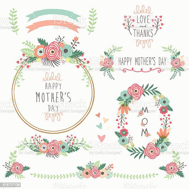 Floral mothers day elements vector id518727138?b=1&k=6&m=518727138&s=612x612&h=t6v6ay ocy8u6sbnmgcld1dcy7f7ohuz9rzgagbjjzs=