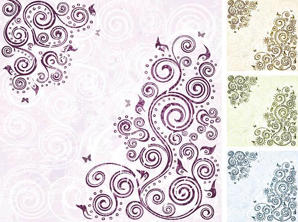 Floral multi-coloured backgrounds vector art illustration