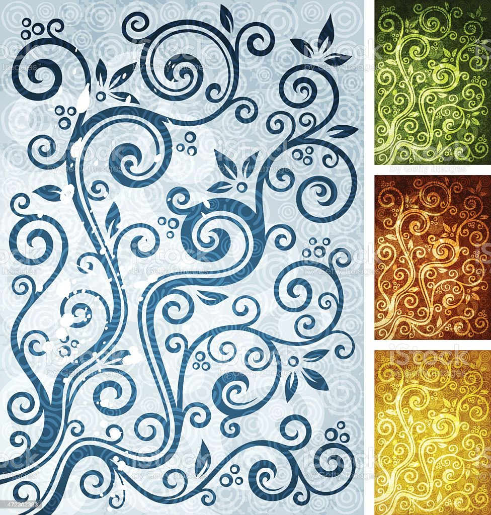 Floral multi-coloured backgrounds royalty-free stock vector art