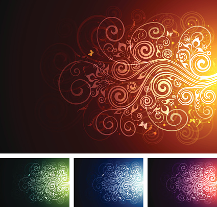 Floral multi-coloured backgrounds