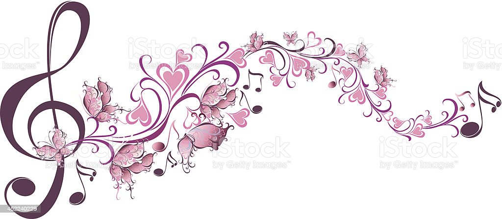 Floral notes royalty-free stock vector art