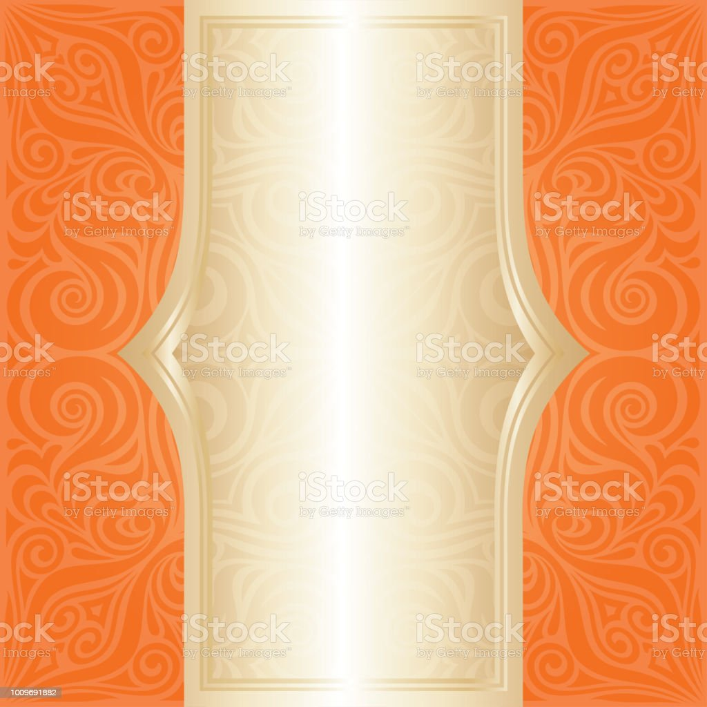 floral orange retro style colorful wallpaper mandala background vector id1009691882