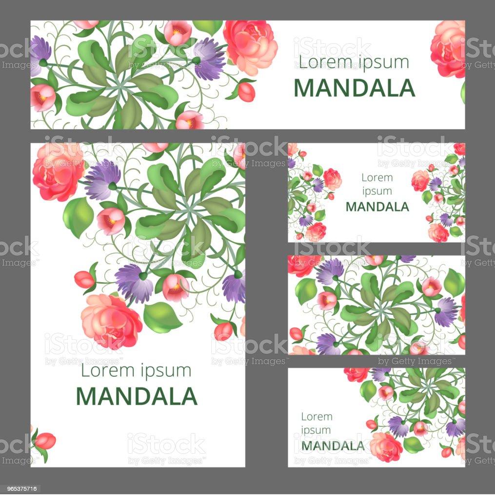 Modèle de conception d'ornement floral. Peut être utilisé pour la carte de visite ou livret, bannière, couverture de livre. Illustration vectorielle. - clipart vectoriel de Abstrait libre de droits