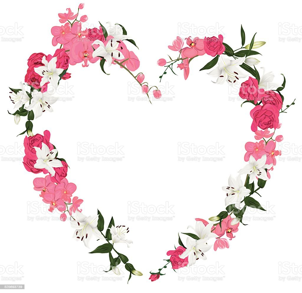 Floral Ornament Heart Vector Frame Stock Vector Art & More Images of ...
