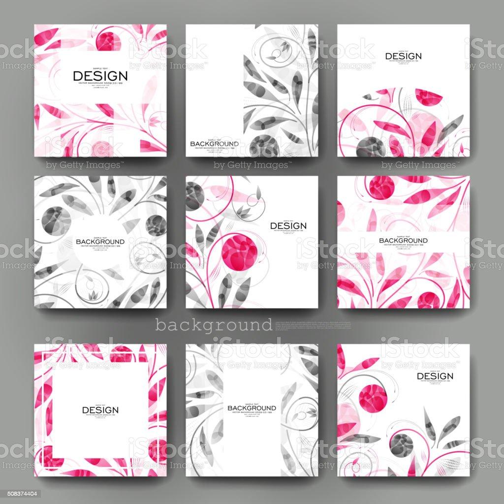 Ilustración de Adorno Floral Vector De Plantilla Manual Del ...