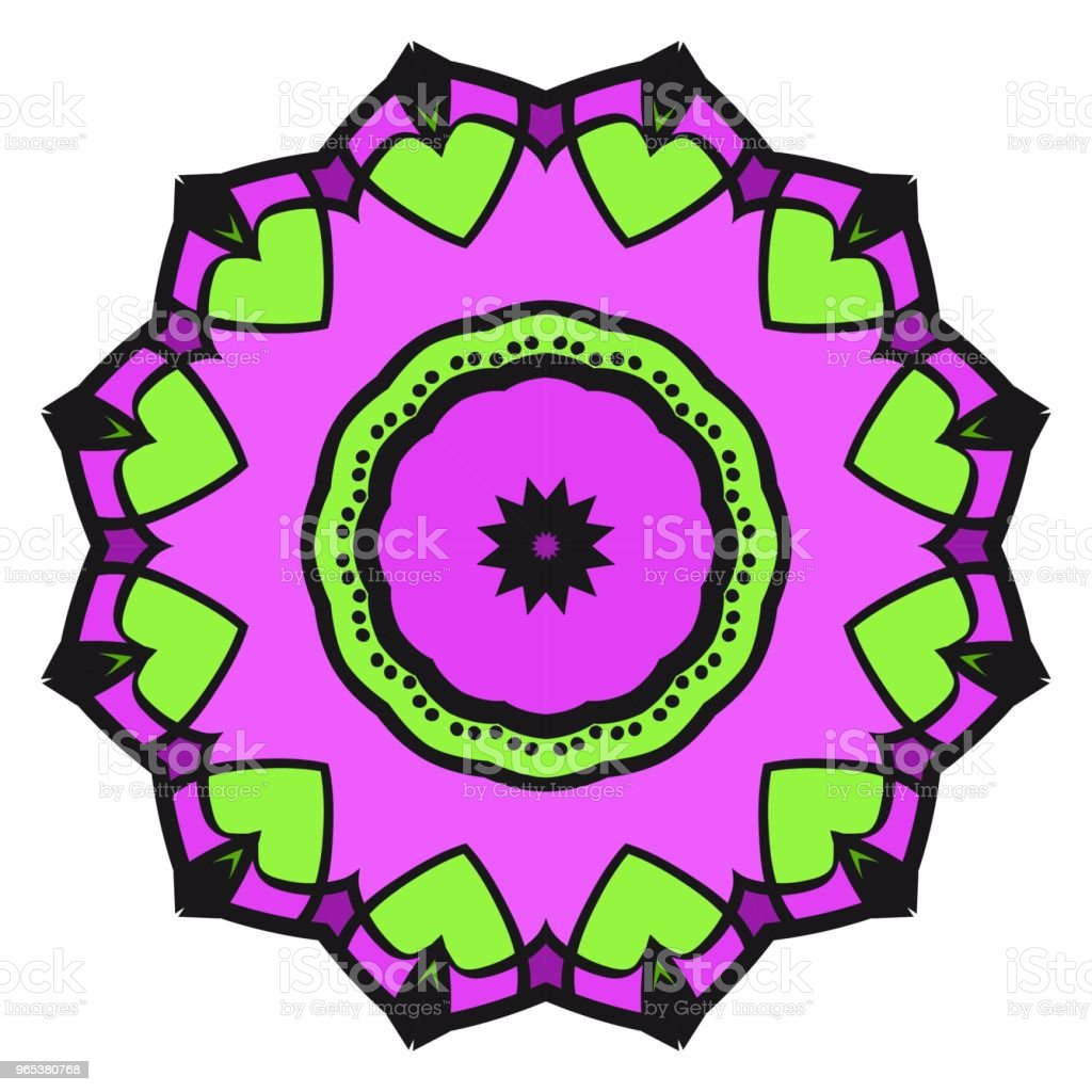 floral ornament. Vector illustration. For the interior design, printing, web and textile royalty-free floral ornament vector illustration for the interior design printing web and textile stock illustration - download image now