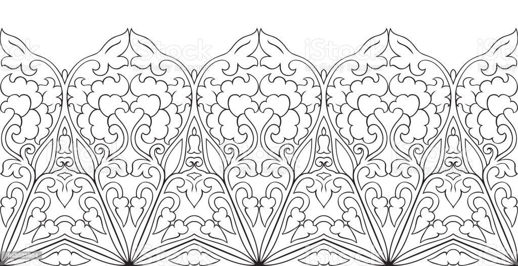 Florale Bordure Stock Vektor Art Und Mehr Bilder Von Abstrakt