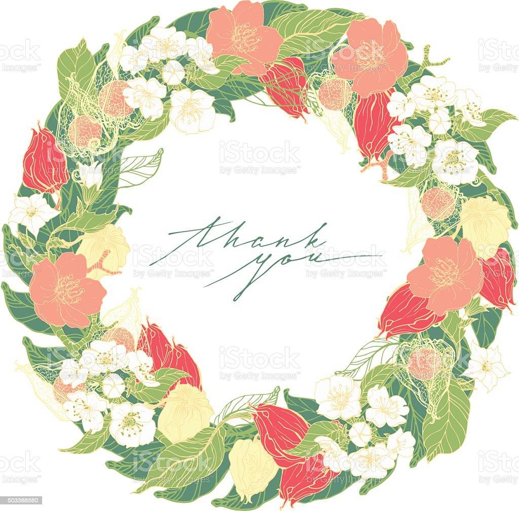 Ilustración vectorial de flores decorativas en formato - ilustración de arte vectorial