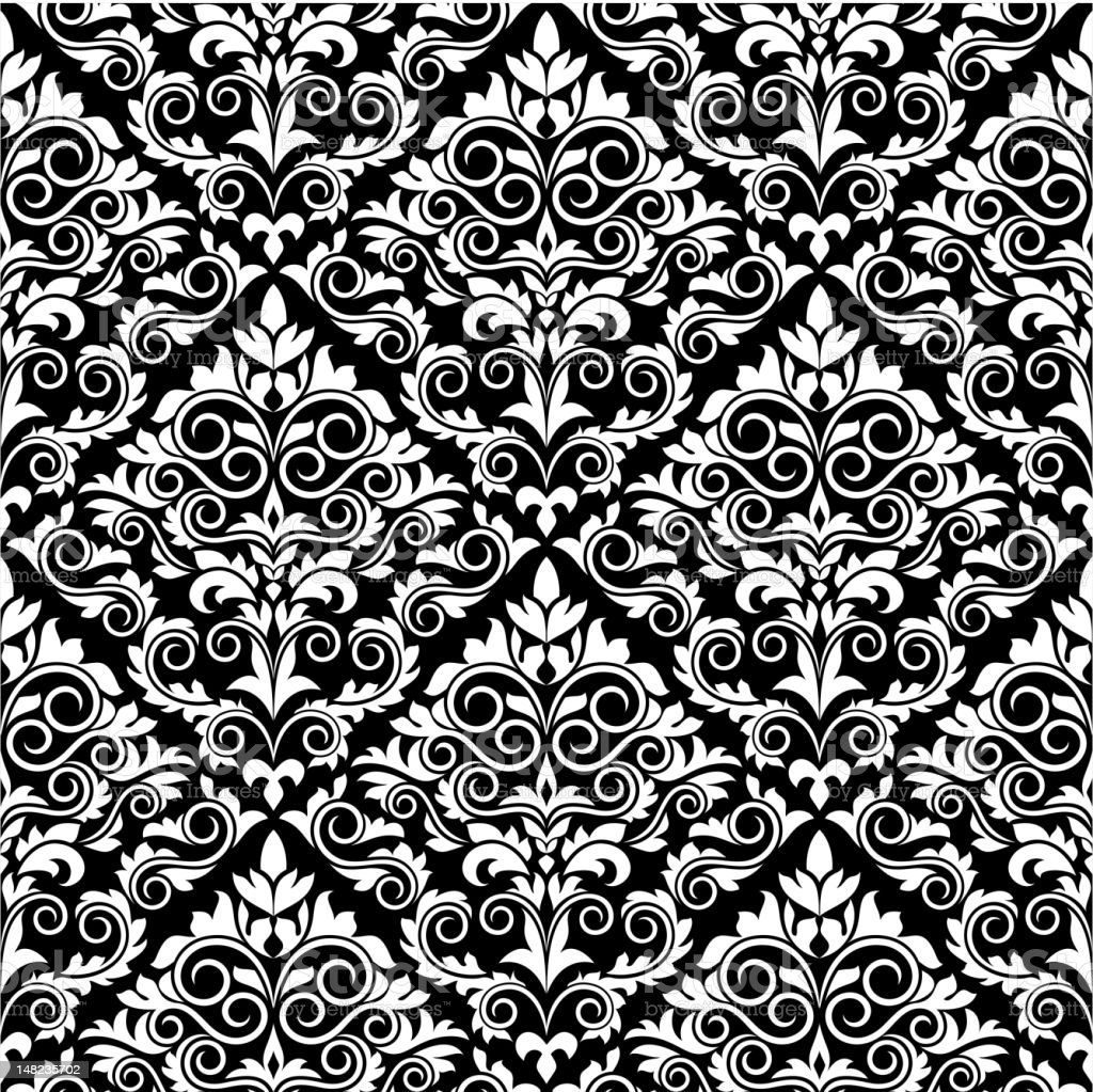 Floral ornamental seamless pattern royalty-free stock vector art