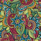 floral ornamental seamless pattern